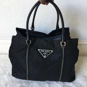 Prada Black Nylon Handbag Bag Tote